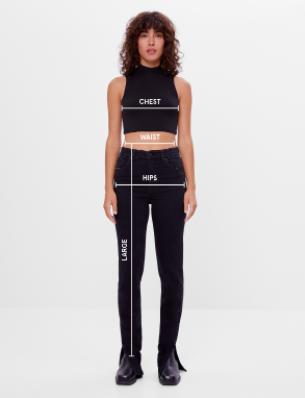 Guia De Tallas De Bershka Para Mujer De Camisetas Y Camisas 2021 Guiatallas Com